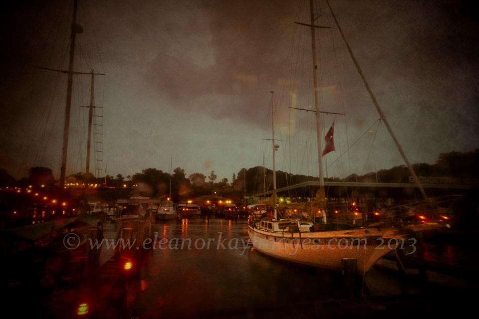 Bruadar,sailboat,maryland,marina,georgetown yacht basin,sassafras river,night,rain